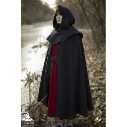 Wool Cloak and Mantle - Grey