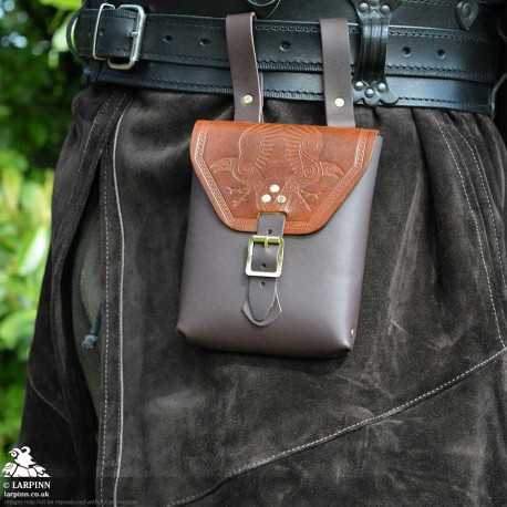 Corym Odin A6 Leather Pouch - Brown