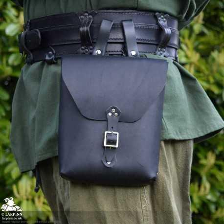 Corym A5 Leather Pouch - Black