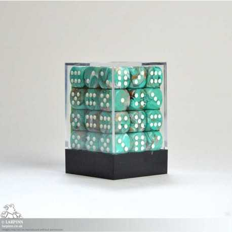 Dice Block - 36 Marble Oxi-Copper Six Sided D6