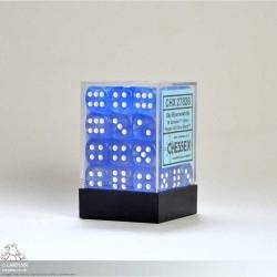 Dice Block - 36 Borealis Sky Blue Six Sided D6