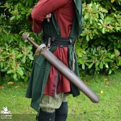 Stuart Long Sword Scabbard - Double Edged - Full Scabbard