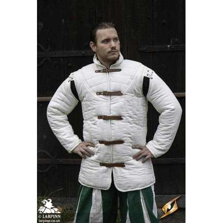 Medieval Warrior Gambeson - White