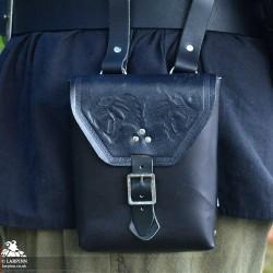 Corym Wolf A6 Leather Pouch - Black