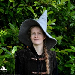 Woollen Witch Hat - Grey