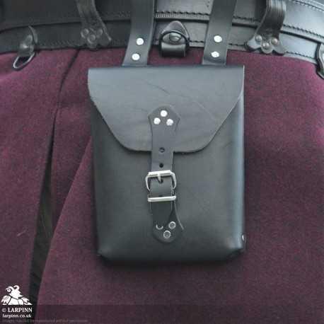 Corym A6 Leather Pouch - Black